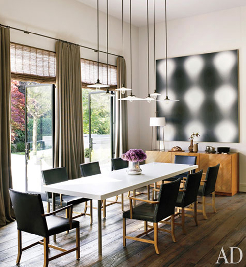 Contemporary Dining Room By Steven Volpe Design By: An Artful Space